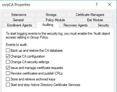 CA Audit config